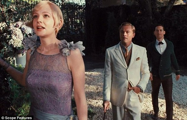 Up and coming: Carey plays socialite Daisy Buchanan in the summer film The Great Gatsby