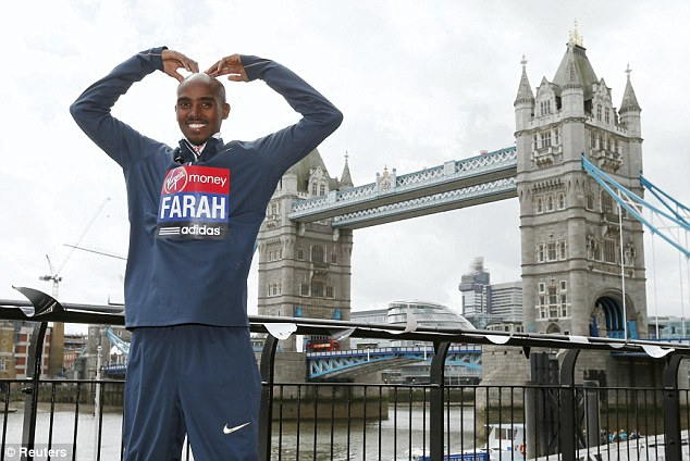 Appearance: Mo Farah will take part in the London Marathon on Sunday