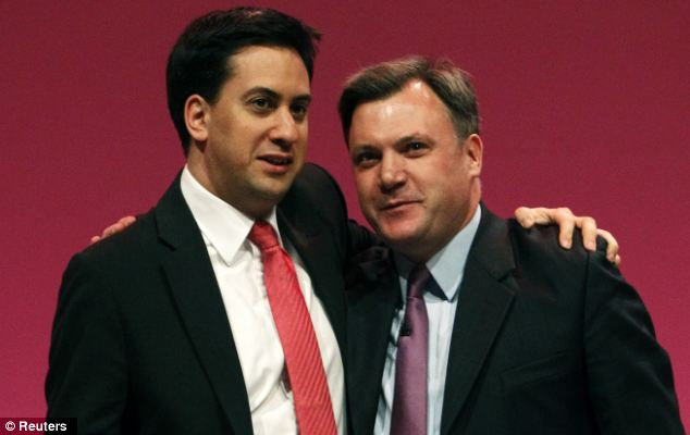 Spending spree: Ed Miliband (left) and shadow chancellor Ed Balls could promise to outspend the Tories at the 2015 election under a plan to set out a new 'economic settlement' for Britain