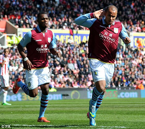 Finding form: Gabriel Agbonlahor has scored three goals in his last four games