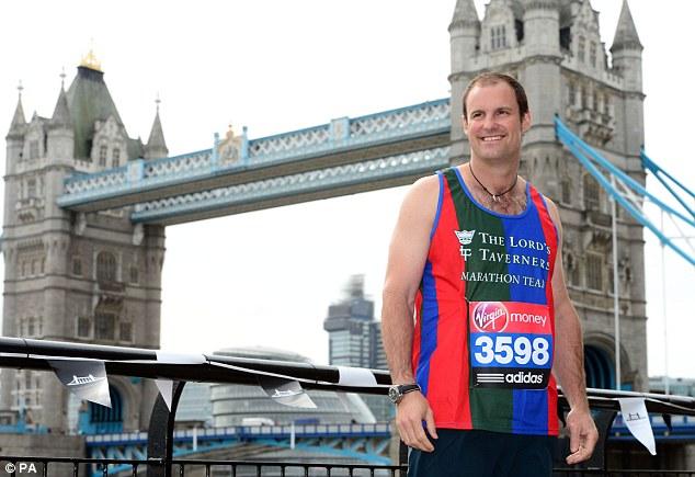 Marathon man: Former England cricket captain Andrew Strauss will be running the London Marathon on Sunday