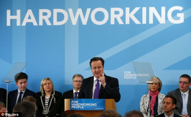 David Cameron used a speech at the launch of the Tory party's local election campaign to attack Labour's economic record