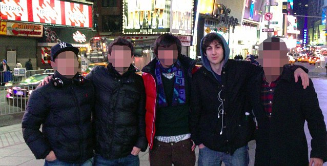 'Normal': Various pictures show Tsarnaev hanging out with American friends