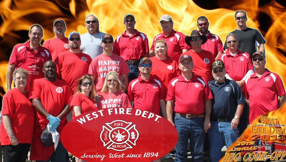 Heroes: This 2013 photo shows the West Volunteer Fire Department. Many of the people in this pictured rushed to the fire at the fertilizer plant in their town. Several of these brave volunteers are missing and feared dead