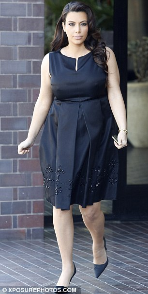 Stylish: The court date mustered a delightful outfit from Kim