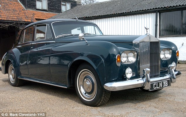 Discovered: The Rolls-Royce Silver Cloud III had remained unused and covered in blankets for seven years before it was found by Rolls Royce fanatic Brian Webb