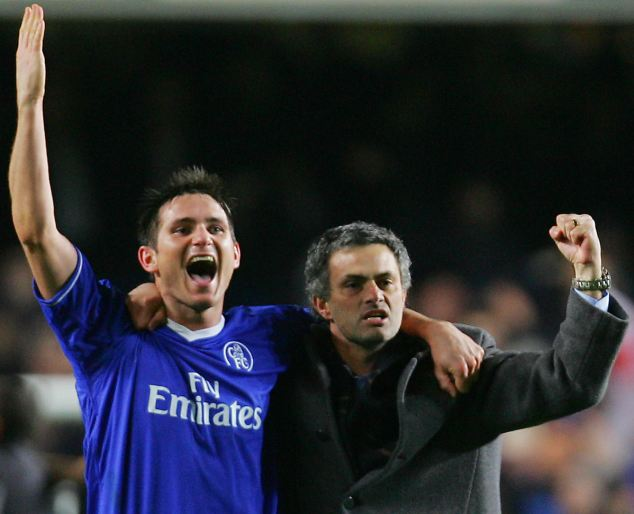 Pals: Lampard praised Mourinho, but refused to be drawn into speculation about Chelsea's next manager