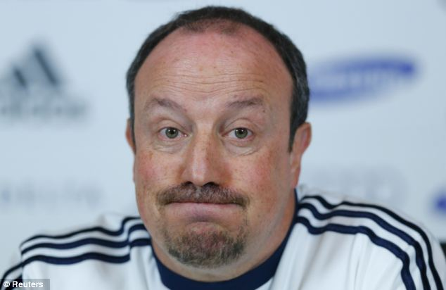 Finish the job: Benitez still has at least eight fixtures to lead his team through