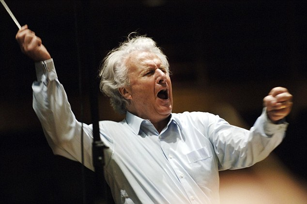 Talent: Davis's big break came when he stepped in for lead conductor Otto Kemplerer with the BBC Scottish Orchestra
