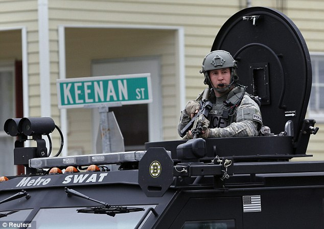 Manhunt: A massive manhunt is underway in the greater Boston area to try and locate Tamerlan's younger brother Dzhokhar, who is still at large