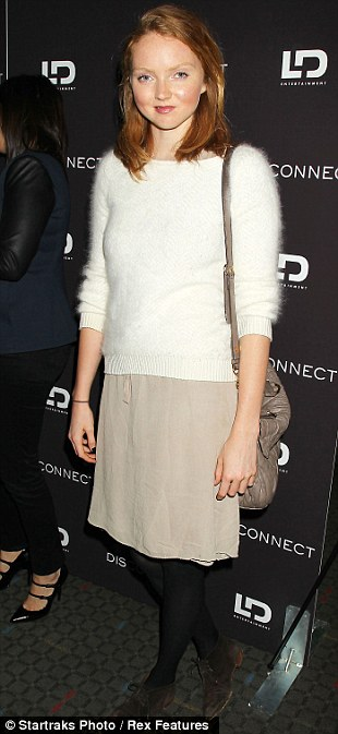 On and off duty: Lily's frumpy outfit was a far cry from her usual stylish appearance