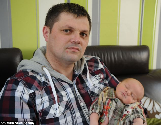 Shaun Hooley was sacked from his job as a bus driver for Tates Travel because he left work to see the birth of his first son, Jacob