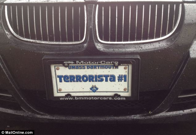 Wrong plate, wrong time: Dzhokhar Tsarnaev's friends liked to cruise around in a car with the 'Terrorista #1' license plate