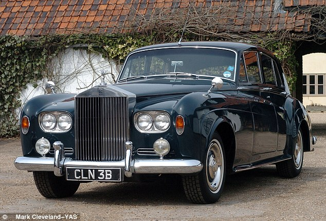 Impressive: This stunning Rolls Royce which was once owned and crashed by legendary actor Sir Dirk Bogarde has been restored after being found in a garage