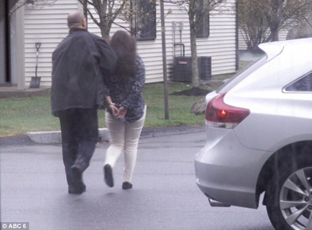 Two women and one man, both of whom appeared to be college-aged, were apprehended for questioning from the Hidden Brook Apartments on Carriage Drive in New Bedford