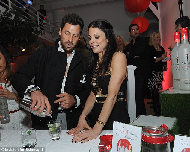 What can I make you? Bethenny got particularly close with Dancing With The Stars pro Maksim, who traded in his dancing shoes to be a guest mixologist at the night to promote Bethenny's Skinnygirl alcohol range