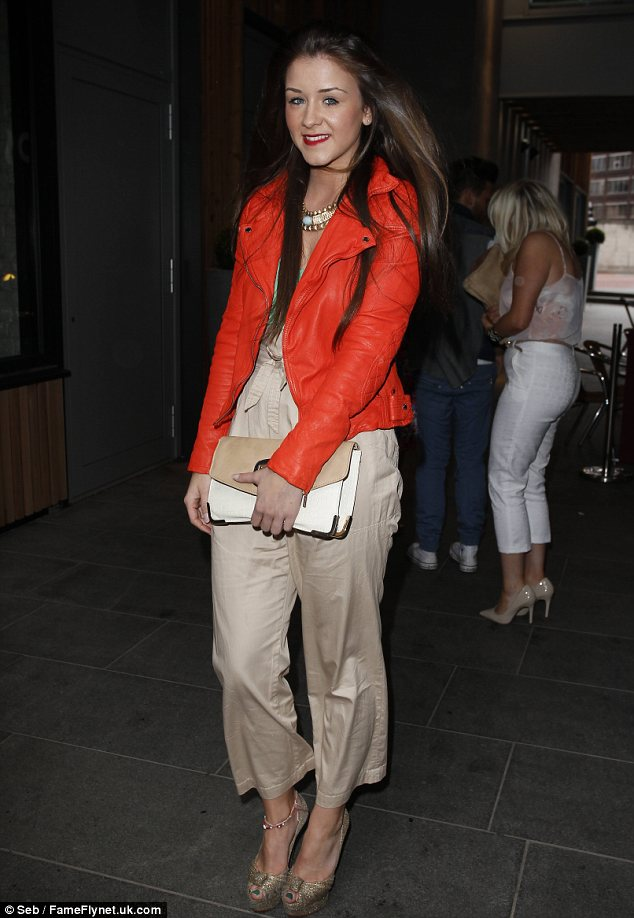 Going for a sophisticated style: Brooke Vincent swapped her revealing outfits for a covered up look for a brunch event in Manchester on Sunday