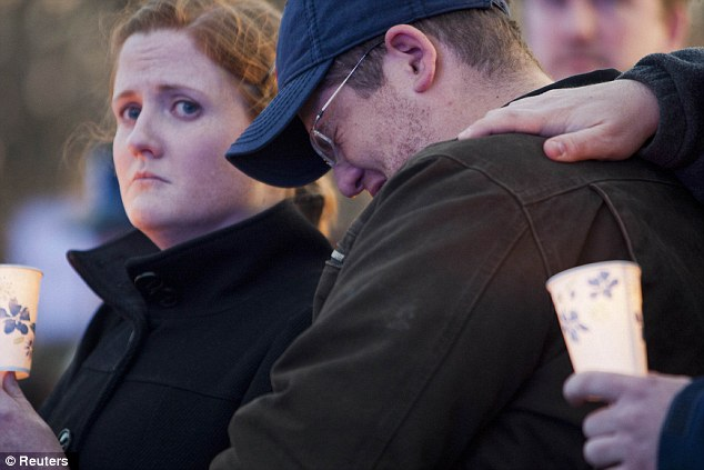 Brother's pain: Andrew Collier, brother of Sean Collier, grieves for a man he called amazing and 'a better man than I'll ever be'