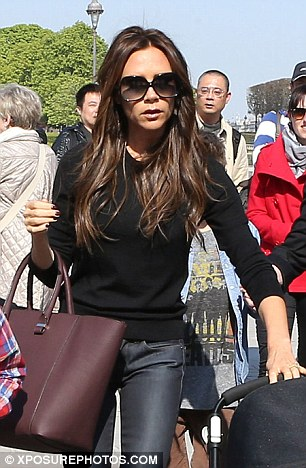 Walk on by: The former Spice Girl caused quite a scene as other visitors realised who she was