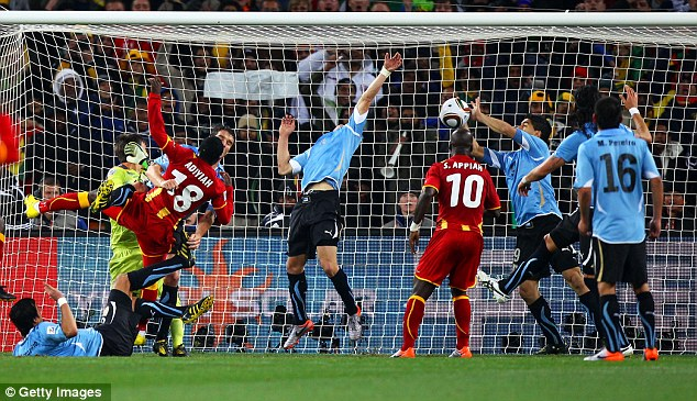 World Cup 2010: Cynically preventing a Ghana goal