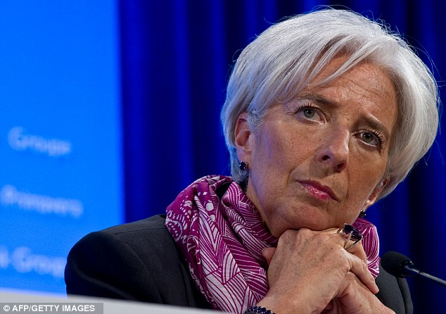 Silence: Christine Lagarde is no longer such a vocal supporter of George Osborne's economic policies