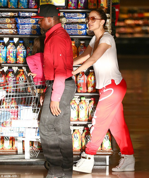Treats: J-Lo makes sure she gets stocked up on all her children's favourites