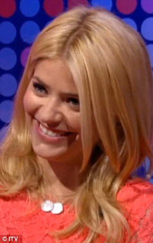 Seeing double: Holly Willoughby giggled away as Britain's Got Talent hopeful Francine Lewis did an impression of her while appearing on This Morning on Monday