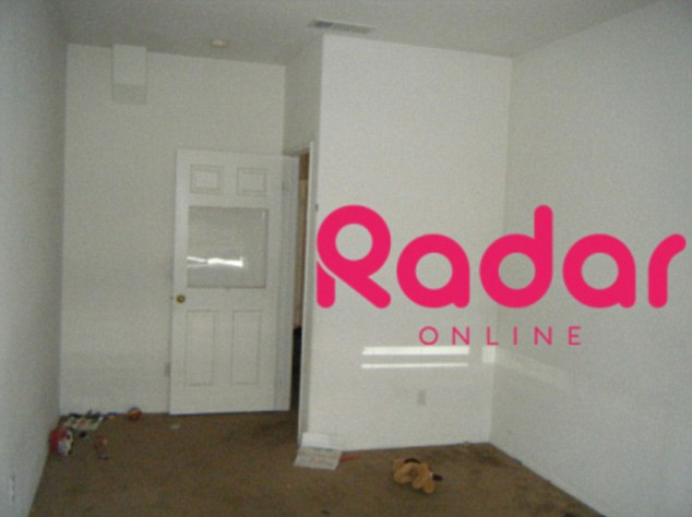 Remodel: Octomom installed a custom plexiglass window in one of the bedroom doors of her Palmdale, California, home before being evicted from the premises earlier this month