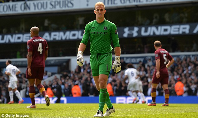 Frustration: Joe Hart felt Manchester City wasted their lead away to Tottenham