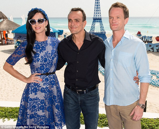 Star showing: Katy was joined by Smurf castmates Neil Patrick Harris and Simpsons' veteran Hank Azaria