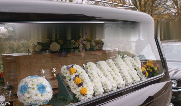 Paying their respects: The town came together at the funeral of the 11-year-old boy