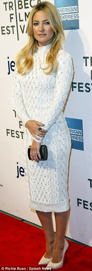 Striking appearance: The actress was on the red carpet as part of the TriBeCa Film Festival