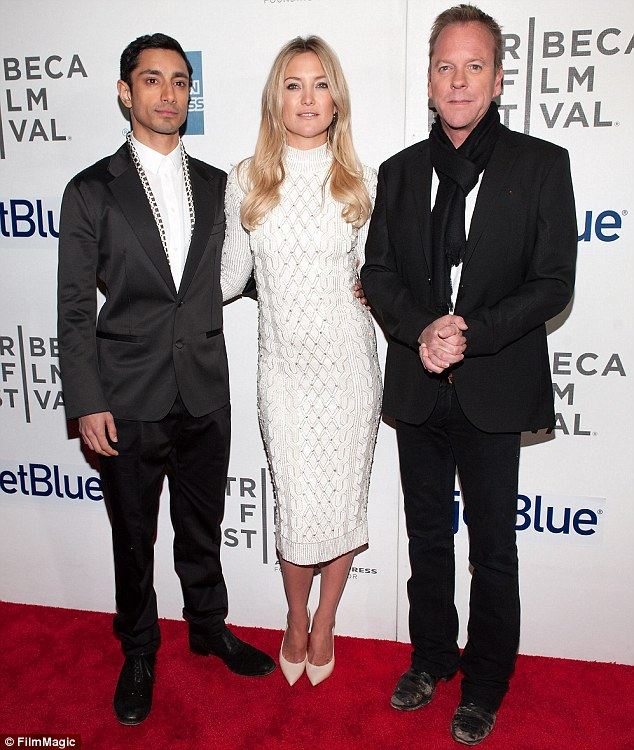 Cool co-stars: She was joined by Riz Ahmed and Kiefer Sutherland at BMCC Tribeca PAC