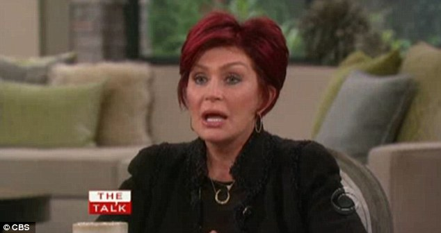 Tough time: Sharon Osbourne on Monday said she was 'devastated' over husband Ozzy's recent relapse as she publicly addressed the matter on The Talk