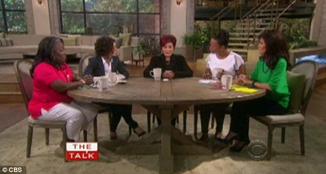 Around the table: The women of The Talk listened intently as Sharon stated she and Ozzy are not getting divorced despite his recent relapse