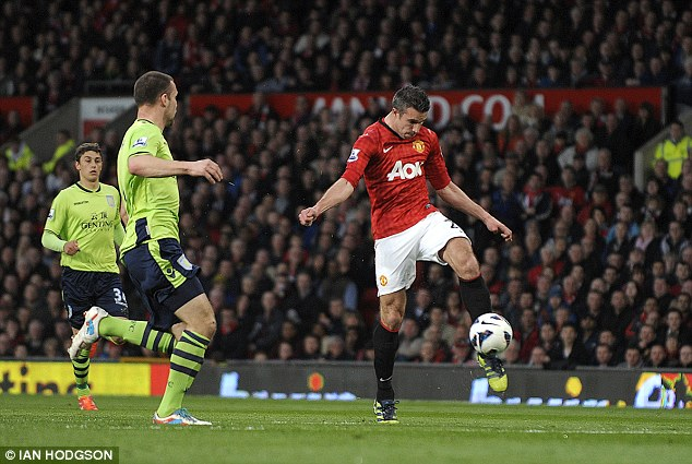 Pick of the bunch: Van Persie a brilliant volley for United's second goal