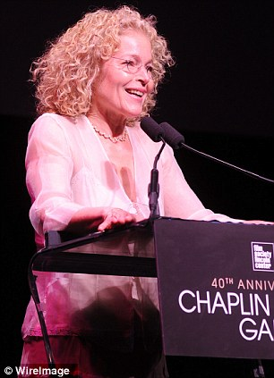 Speaking out: Blythe and actress Amy Irving also spoke to guests at the event