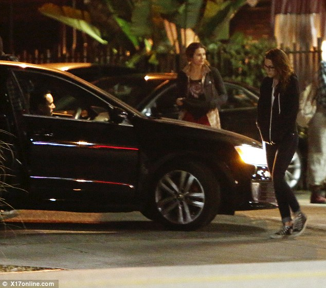 Is that Rupert Sanders? Kristen Stewart was seen getting into a car with a man who looked mysteriously like her former lover as she left Malo Taqueria in Silver Lake, California, last Sunday night