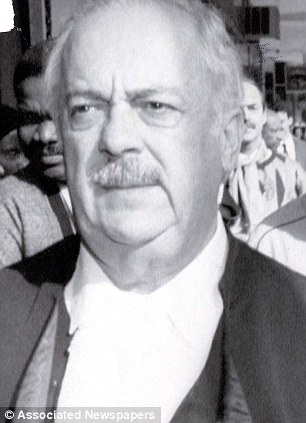 George Bizos pictured representing Nelson Mandela's ex-wife Winnie at a trial in 1991