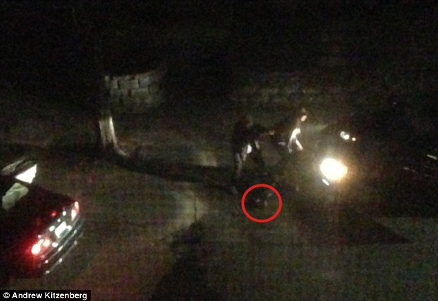 Threat: In another image, a red circle shows what the eyewitness believed to be a pressure cooker bomb