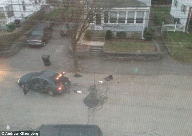 Recovery: As daylight broke, the witness took photos of the abandoned sedan and backpacks