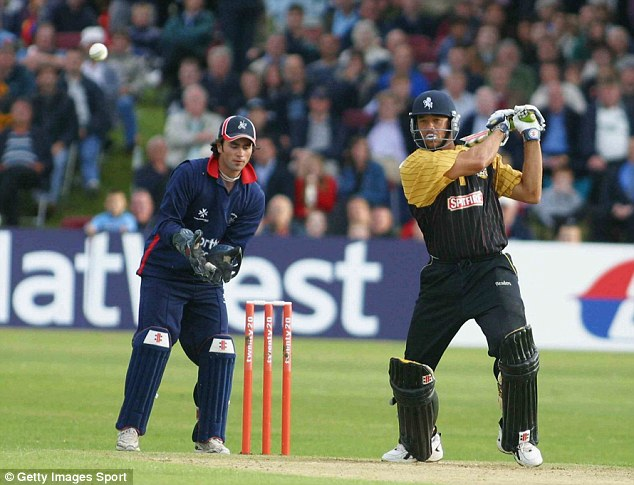 Previous best: Andrew Symonds took just 34 balls to score a hundred against Middlesex in 2004
