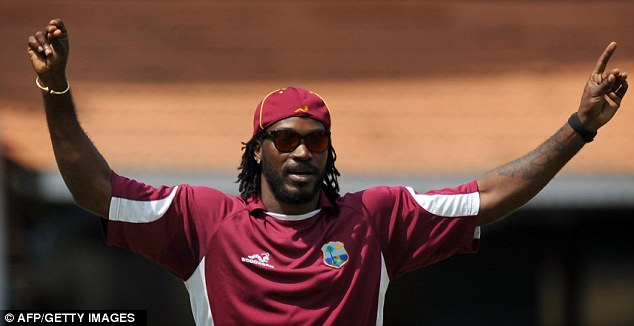 Centre stage: Gayle hit 11 sixes on his way to his hundred