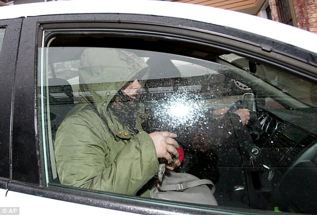 Katherine Russell, the widow of Boston Marathon bombing suspect Tamerlan Tsarnaev, leaves her lawyer's office