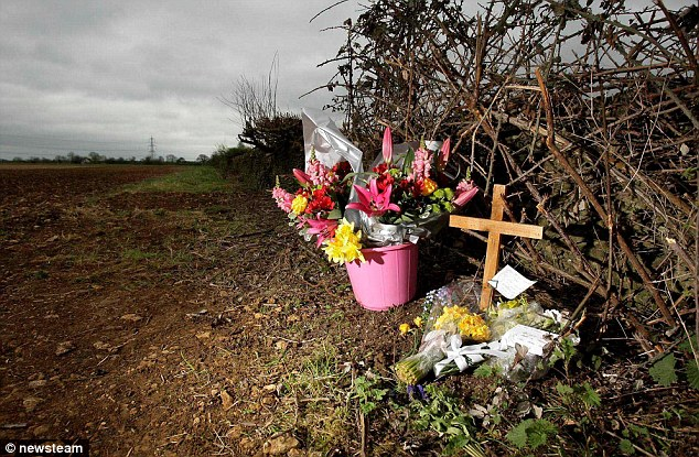 Tributes and flowers were left at the crop field in East Leach, Gloucestershire where the body of Becky Godden Edwards was found by police