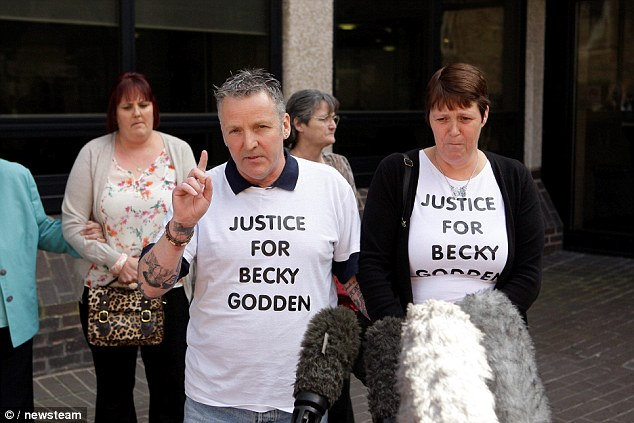 Still hope: Speaking after the inquest, Becky Godden-Edwards' father John said he is still looking for 'answers'