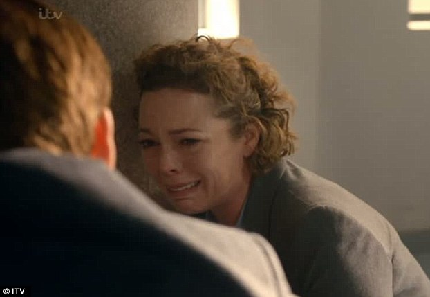 Devastating truth: Olivia Colman coping with the realisation that her husband Joe was Danny's killer