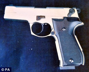 Firearm: When Li's attempts at bribery failed and he was asked to leave he picked up his coat and this air pistol fell from the pocket