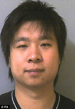 Bribery: Chinese student Yang Li was jailed for 12 months after offering his professor £5,000 in cash in a bid to pass his degree