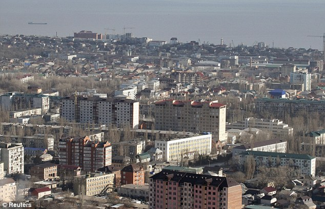 An aerial view of the Dagestan capital of Makhachkala, a region which has been marked by insurgent violence